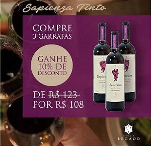 Combo Sapienza Tinto -03 garrafas