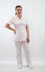 2 Conjunto de calça  Gabardine Branco