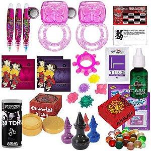 Kit Sexyshop 57 Produtos Gel Creme Bolinhas