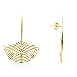 Par de Brincos Pêndulos de Ouro com 6 Diamantes