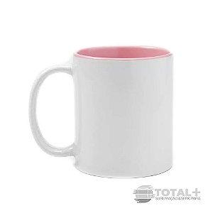 Caneca Branca com Interior Rosa - 325 ml