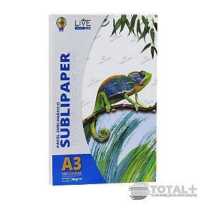 Papel Sublimatico Live A3 100 folhas