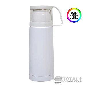 Garrafa Térmica para Café Aço Inox com copo 300ml