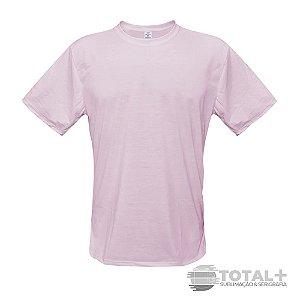 Camiseta Poliéster Rosa Gola Redonda
