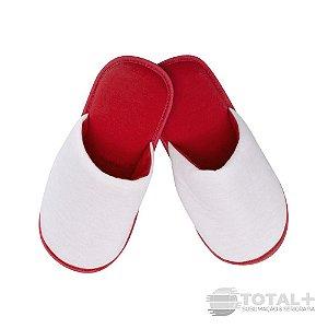 Pantufa Adulto Vermelha para sublimação