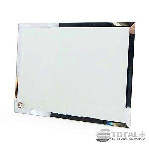 Porta Retrato De Vidro Com Borda Espelhada - 18x23