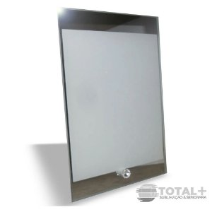 Porta Retrato De Vidro Com Borda Espelhada - 13x23