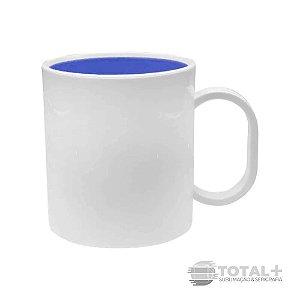 Caneca De Polímero Interior Azul Royal Resinada para Sublimação