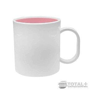 Caneca De Polímero Interior Rosa BB Resinada para Sublimação