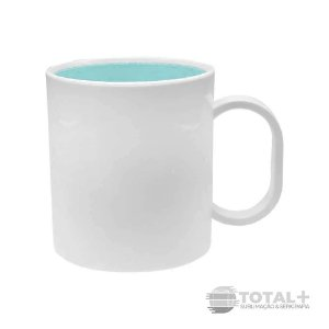 Caneca De Polímero Interior Azul BB Resinada para Sublimação
