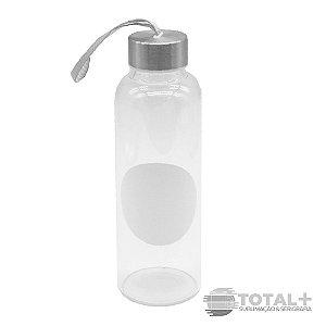 Garrafa de Vidro Tarja Branca 420ml