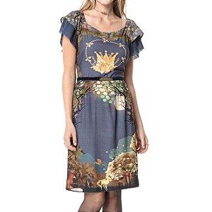 Vestido Midi Pássaro Dourado - Ref.:106485