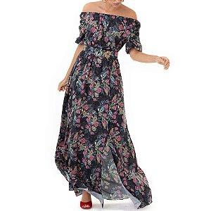 Vestido Longo Estampado Flores Gaia - Ref.:105937