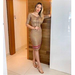 Vestido Secretário Estampado Liz - Ref.:106824