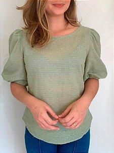 Blusa Leve Orquídea Verde  Ref.: 021642