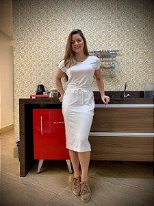 T-shirt Linha Confort  Fita Dourada Lateral- Ref.: 025936 - Off White