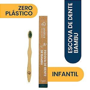 Escova de Dente de Bambu Infantil Verde Positiv.a