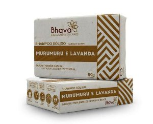 Shampoo Sólido Lavanda e Murumuru Bhava 90g LIXO ZERO