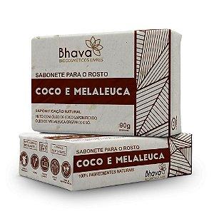 Sabonete Facial Coco e Melaleuca Bhava 90g LIXO ZERO
