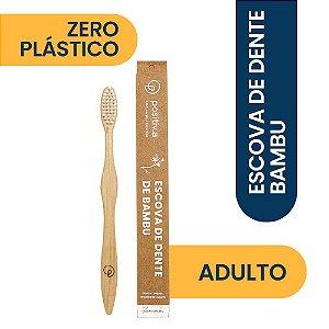 Escova de Dente de Bambu Adulto Branca Positiv.a