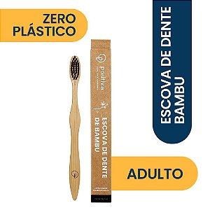 Escova de Dente de Bambu Adulto Preta Positiv.a