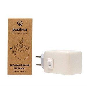 Aromatizador Branco Elétrico Ceramica Positiv.a Bivolt