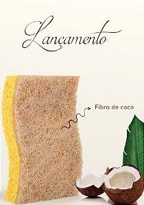 Esponja de Coco Ecomais Ákora - Pack Com 4 Unidades