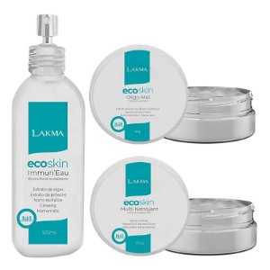 Kit Limpeza de Pele Ecoskin Blue Cosmetics 3 itens Lakma
