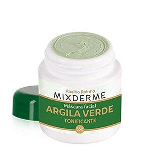 Mixderme Máscara Facial Argila Verde Tonificante 55g Abelha Rainha