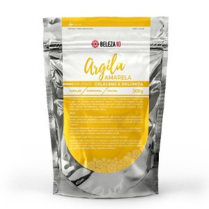 Argila Amarela com Colágeno e Dolomita 500g Beleza10