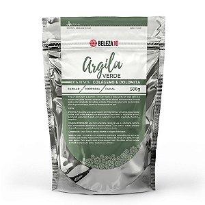 Argila Verde com Colágeno e Dolomita 500g Beleza10