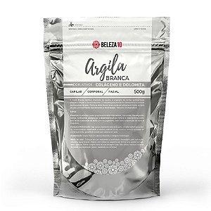 Argila Branca com Colágeno e Dolomita 500g Beleza10