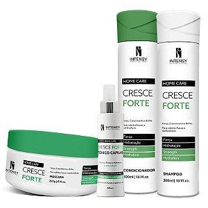 Kit Cresce Forte Máscara + Condicionador Shampoo e Tônico Intensy