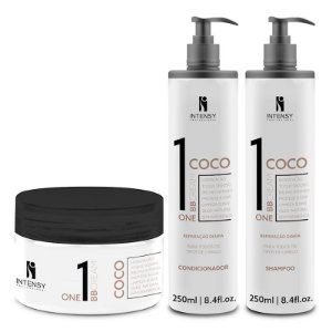 Kit One BB Cream Coco Máscara + Condicionador e Shampoo Intensy