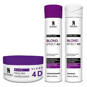 Kit Blond Effect 4D Máscara + Condicionador e Shampoo Intensy