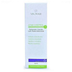 Acne Control Sabonete Líquido Com Ácido Salicílico 50ml Valmari