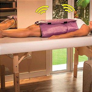 Vibro Manta Massageadora Meio Corpo Digital Bivolt Bio Term