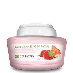 Creme De Massagem Facial Morango 250g Flor Da Terra