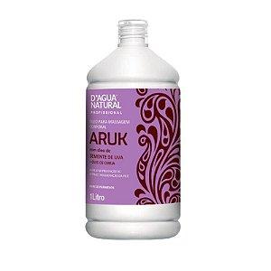 Óleo Para Massagem Aruk D'Água Natural Semente de Uva e Cereja 1L