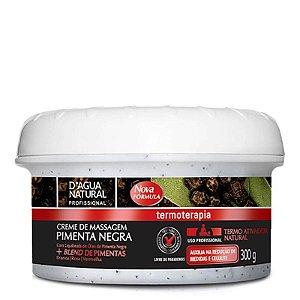 Creme Pimenta Negra Termo Ativador D'agua Natural 300g