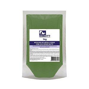 Máscara de Argila Verde com Chá Verde em Pó 1kg Dermare