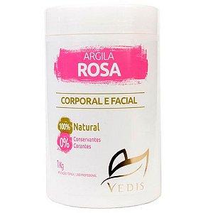 Argila Rosa Vedis 1kg 100% Natural