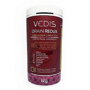 Drain Redux Creme para Drenagem Linfática 1kg Vedis