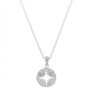 Colar Medalha Estrela Em Prata