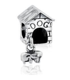Berloque Casinha De Cachorro Prata