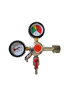 Registro CO2 1 via - Com manômetro (Importado)