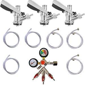 Kit de Extração - 3 via com manômetro