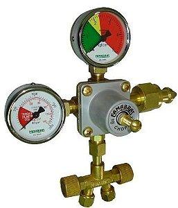 Registro CO2 2 via - Com manômetro (Famabras)