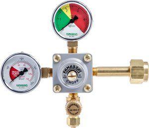 Registro CO2 1 via - Com manômetro (Famabras)