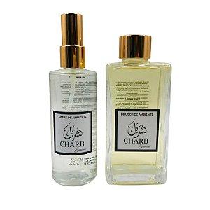 Kit Difusor de Ambiente + Home Spray Linha Memórias do Líbano - Charb 250 ml e 120 ml